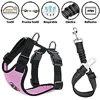 cintur/ón de seguridad Sungpunet Cintur/ón de seguridad para asiento de coche ajustable gato para mascota perro