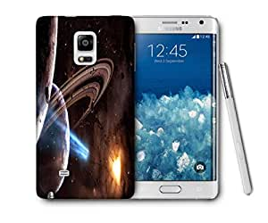 Snoogg Galaxy Heart Printed Protective Phone Back Case Cover For Samsung Galaxy NOTE EDGE