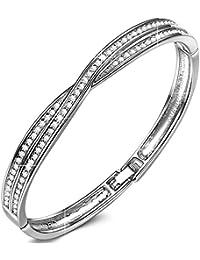 Susan Y Croix Bracelet Femme Fait des Cristaux Swarovski, sans Nickel, Emballage Cadeau Chaque Moment spécial