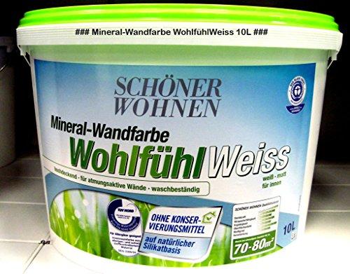 SCHÖNER WOHNEN FARBE Wandfarbe WohlfühlWeiss 10 L, Weiß ...