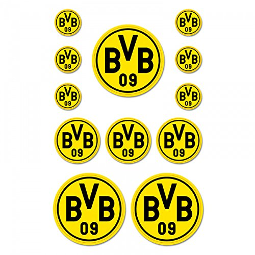 BVB Aufkleber 12 Stück, Folie, Schwarz/gelb, 10 x 15 x 1 cm, -Einheiten