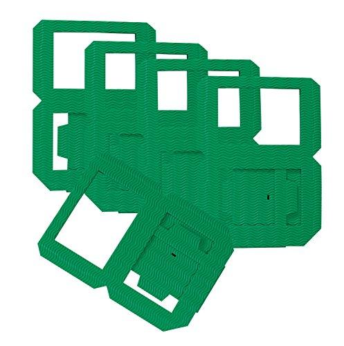 folia 9851/5 - Laternen Rohlinge, Laternenzuschnitte aus Wellpappe, 5 Stück, grün, zum Zusammenstecken ohne Kleber, ideal zum Gestalten individueller Laternen oder Tischlichter