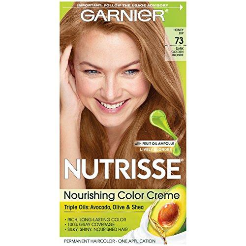Garnier Crème colorante Nutrisse Cream - Une couleur exceptionnellement riche et durable - Enrichie d'huiles d'avocat et de pépins de raisin - 73 Miel doré (Blond doré foncé)