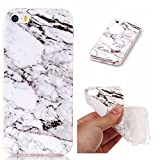 Coque iPhone 5s, SsHhUu Ultra Mince [Marbre Pattern] Flexible Caoutchouc Doux TPU...