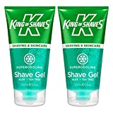 King of Shaves, gel da barba rinfrescante, 150 ml, confezione doppia
