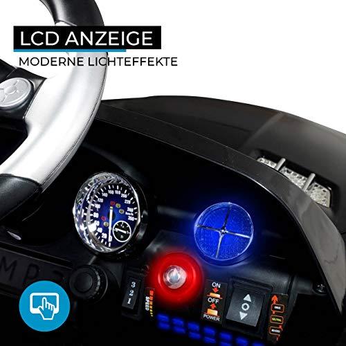 RC Auto kaufen Kinderauto Bild 5: Kinder Elektroauto Mercedes Lizenziert SLS AMG Original Lizenz Kinderauto Kinderfahrzeug Elektro Spielzeug für Kinder (Schwarz)*
