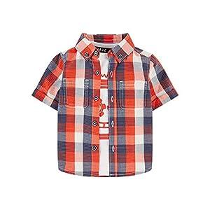 Mothercare MB Rp Check Shirt & tee SS Camiseta para Bebés 1
