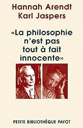 La philosophie n'est pas tout à fait innocente