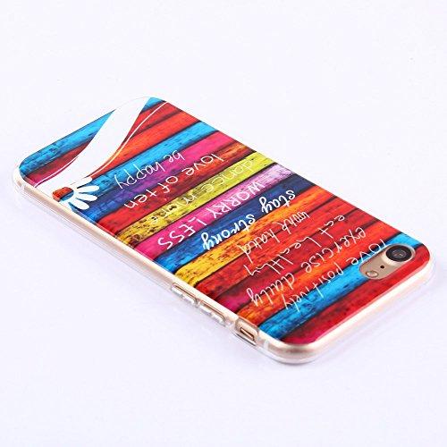 [A4E] Handyhülle passend für Apple iPhone 7 Plus aus TPU Silikon mit retro UNION JACK / UNITED KINGDOM, UK, Flagge, Fahne used look (rot, weiß, blau, schwarz, gelb) YOLO - Worry less