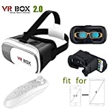#9: Generic VR Box 2nd Generation Enhanced Version Virtual Augmented Reality Cardboard 3D Video Glasses Headset with Bluetooth Remote Control For iPhone 6S 6 Plus SE 5S 5 Samsung Galaxy S7 Edge Plus S6 S5 S4 Note 5/4/3/2- 4.7