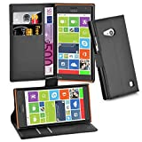 Cadorabo Book Case works with Nokia Lumia 730 in OXID BLACK