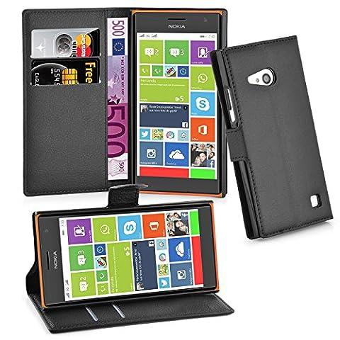 Cadorabo - Book Style Hülle für Nokia Lumia 730 - Case Cover Schutzhülle Etui Tasche mit Standfunktion und Kartenfach in