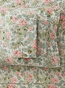 laura ashley flanell bettlaken set flanell rose king. Black Bedroom Furniture Sets. Home Design Ideas