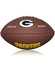 Wilson Football Wilson NFL Greenbay Packers Logo Mini - Balón de fútbol americano ( caucho ) , color marrón, talla Mini