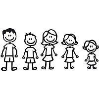 Merssavo 1 Set Cinco Interesantes Pegatinas de Coches de la Familia Cortada Pegatina de Parachoques de Pegatina para Vente de coche Camiones y Portátiles