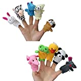 10pc Story Time Cute Zoo Animal Finger P...