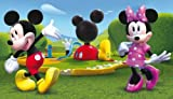 ABC Tappeti Disney Teppich Mickey Mouse Clubhouse 100 x 170 cm Grün/Blau