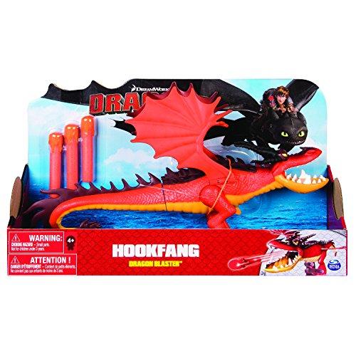Spin Master 6044145-Dreamworks Dragons-Dragon Blaster-Ganchos dientes/hookfang , Modelos/colores Surtidos, 1 Unidad