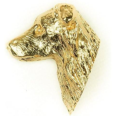 Collie de la frontera Hecho en Reino Unido Artístico Perro Pin Insignia Colección (bañoda en oro de 22