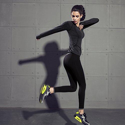 La Vogue Sweat-Shirt t-Short De Sport Jogging Running Gym Fitness Femme Noir