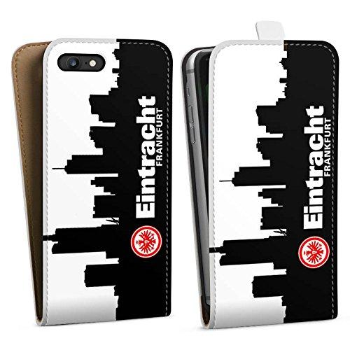 Apple iPhone 5s Hülle Case Handyhülle Eintracht Frankfurt Fanartikel SGE Fußball Downflip Tasche weiß