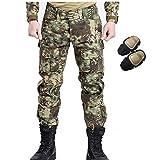 H Welt EU Militär Armee Taktische Airsoft Paintball Schießen Hosen Kampf Männer Hosen mit Knie Pads (Mandrake, L)