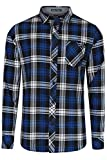 Tokyo Laundry Carlsson Mens Check Shirt Deep True Blue - Large