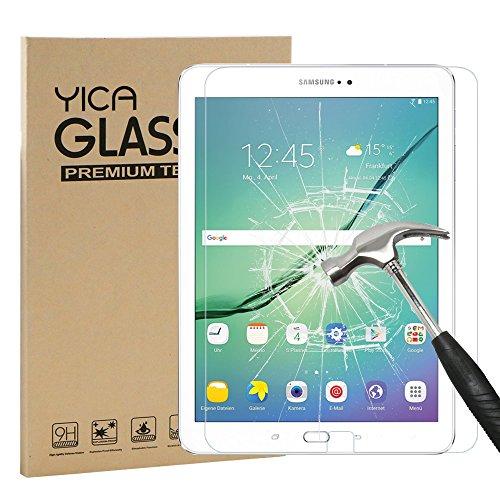 Samsung Galaxy Tab S2 9.7 Schutzfolie Glas Folie Panzerfolie,Yica 0.25 mm 9H Hartglas 2.5D [Hohe Transparenz] [Fingerabdruck-frei][Blasenfrei] Glasfolie Display Folie Displayschutzfolie für Galaxy Tab S2 9.7 Zoll