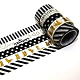 K-LIMIT 5er Set Washi Tape Dekoband Masking Tape Klebeband Scrapbooking Hochzeit 9850