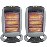 2 x Oscillating Heater - 1200W - BRAND NEW - Tilt Safety Cut Off - Babz Media Ltd