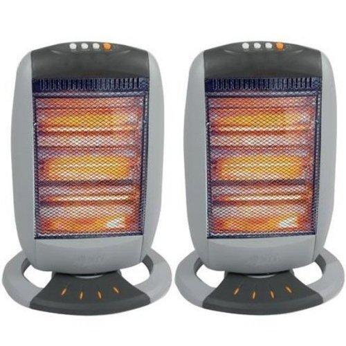 2 x Oscillating Heater - 1200W - BRAND NEW - Tilt Safety Cut Off - Babz Media Ltd