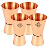 IndianArtVilla Set of 4 Pure Copper Jigg...