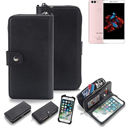 K-S-Trade 2in1 Handyhülle für Bluboo Dual Schutzhülle & Portemonnee Schutzhülle Tasche Handytasche Case Etui Geldbörse Wallet Bookstyle Hülle schwarz (1x)