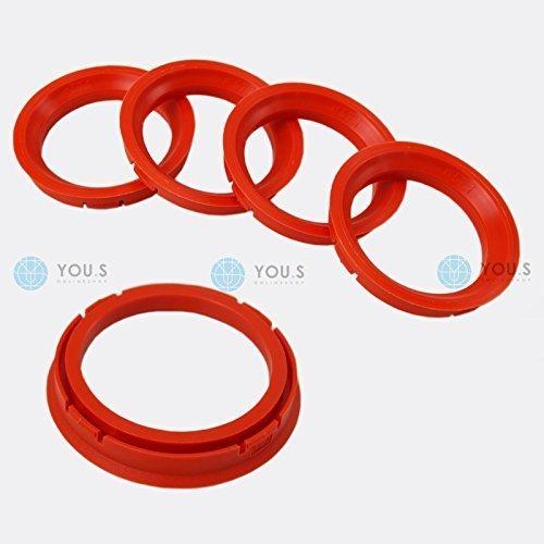 5 x ZENTRIERRINGE DISTANZRINGE für ALUFELGEN 73,0 - 57,1 mm CMS, DBV, Proline Wheels, Schmidt Revolution