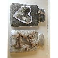 1x Kirschkernkissen in Wärmflaschenform mit kuscheligem abnehmbarem Überzug ca. 14 x 22 cm preisvergleich bei billige-tabletten.eu