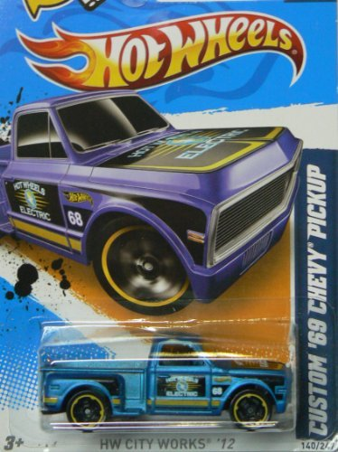 Hot Wheels HW City Works 10/10 Custom '69 Chevy Pickup on Scan and Track Card by Hot Wheels