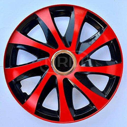 Radzierblende DRIFT EXTRA rot/schwarz 16 Zoll 4er Set