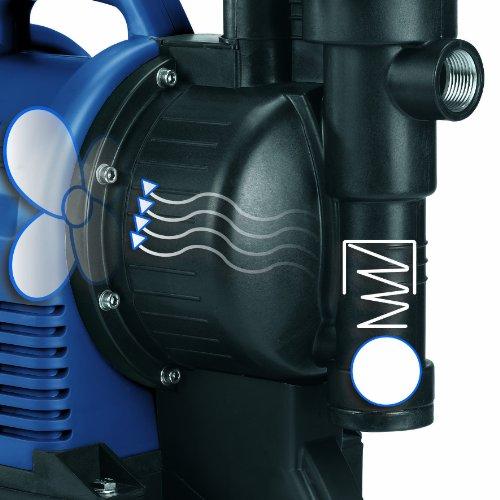 Einhell BG-WW 1136 Hauswasserwerk, 1100 Watt, 3600 l/h Fördermenge, 19,2 l Behälter, Edelstahlanschlüsse, Manometer - 3