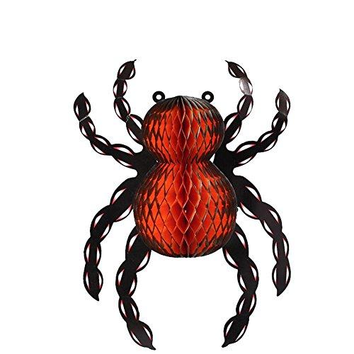 Zantec Halloween Dekoration Papier Schläger Spinnen Hexe hängende Halloween Stütze Stange KTV Partei (Perücke Kostüme Haunted)