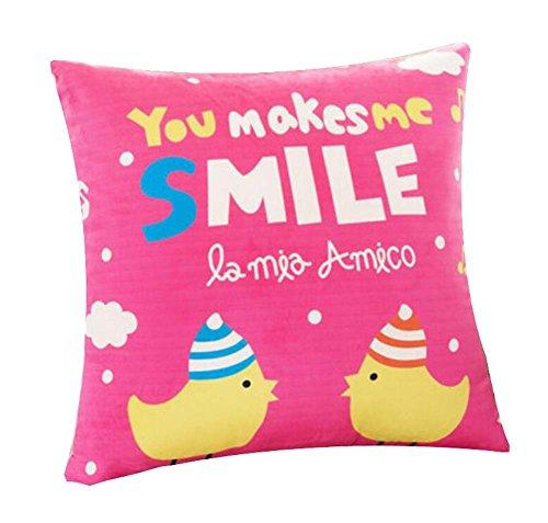 Dragon troops cuscino prendisole per il cuscino luminoso colorato bello, rosa, 15 x 15