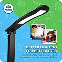 Desk Lamp for Kids, TaoTronics Compact LED Study Lamps - Easy One-Touch Operation Table Lamps ( Touch Control, Dimmable Brightness, Glare-Free, Adjustable Arm & LED Panel ) by TaoTronics