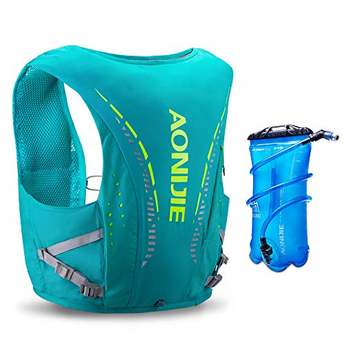 AONIJIE Hydration Pack 10 Set Chaleco Ligero para Correr con cámara de Agua de 2L para Correr, Andar...