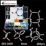 BoldGare (TM) 268pcs molecolare Modello Set DLS-9268 Chimica Organica Molecole Kit struttura modello per Scuola Didattica Ricerca 9 millimetri Series