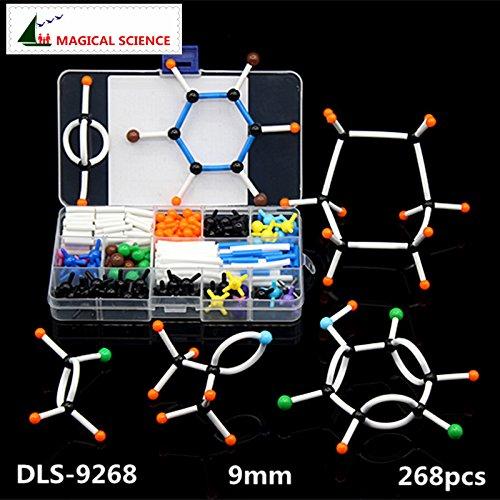 lecular Modell Set dls-9268Organische Chemie Moleküle Struktur Modell-Kits für Schulunterricht Forschung 9mm Serie ()