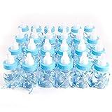 SurePromise One Stop Solution for Sourcing 24er Blau Milchflasche Babyflasche Baby Taufe Geburt Babyshower Party Tischdeko Gastgeschenke