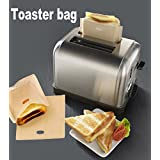 ALAIX Tostadora bolsas reutilizables 100 uso antiadherente Sandwich B / C Haga sándwiches tostados de queso en una bolsa de asa a Tostadora, paquete de 2