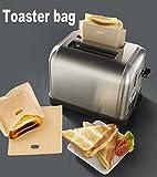 ALAIX borse Tostapane riutilizzabile 100 uso non-Stick sacchetti per toast/ Snack Fai Toasties formaggio in un interrogatorio Borsa tostapane, 2 pack