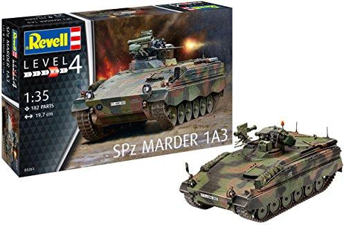 Revell 03261 Modellbausatz, Panzer 1:35-SPZ Marder 1 A3, Level 4, orginalgetreue Nachbildung mit vielen Details-03261