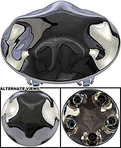 APDTY 010145 Wheel Center Hub Cap Chrome Fits 2000-2004 Ford F150 or 2000-2002 Ford Expedition w/ 17 x 7.5 Styled Steel Wheel With Chrome Covering (Replaces YL3Z-1130-GB, YL3Z1130GB) by
