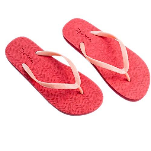 mothcattl Summer Beach Unisex Flip-Flops Couple Glow-in-the-Dark Slippers Flat Sole Shoes Red 41/42 Ted Baker Womens Wear